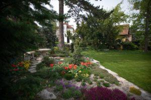 Rozkvetlé cibuloviny a skalničky na jaře